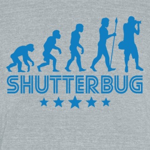Retro Shutterbug Evolution - Unisex Tri-Blend T-Shirt by American Apparel