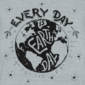 earthday - Unisex Tri-Blend T-Shirt by American Apparel