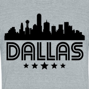 Retro Dallas Skyline - Unisex Tri-Blend T-Shirt by American Apparel