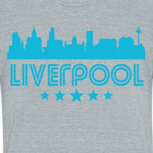 Retro Liverpool Skyline - Unisex Tri-Blend T-Shirt by American Apparel