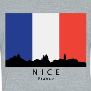 Nice France Skyline French Flag - Unisex Tri-Blend T-Shirt by American Apparel