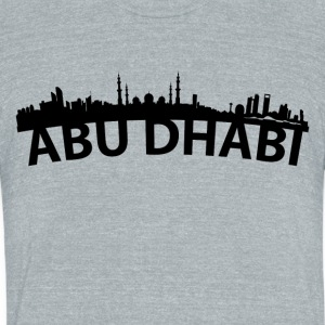 Arc Skyline Of Abu Dhabi United Arab Emirates - Unisex Tri-Blend T-Shirt by American Apparel