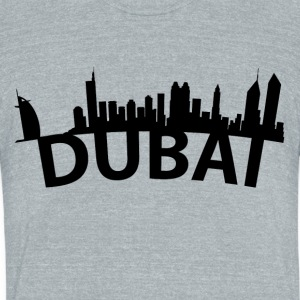 Arc Skyline Of Dubai United Arab Emirates - Unisex Tri-Blend T-Shirt by American Apparel