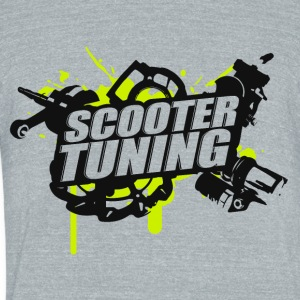 Scootertuning g/b - Unisex Tri-Blend T-Shirt by American Apparel