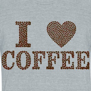 love coffee - Unisex Tri-Blend T-Shirt by American Apparel
