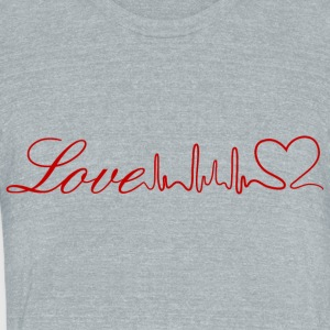 LoveFromHeart - Unisex Tri-Blend T-Shirt by American Apparel