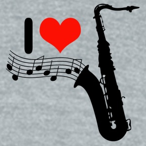 I love saxophone / Jazz - Unisex Tri-Blend T-Shirt by American Apparel