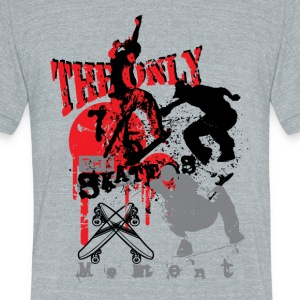The only skater - Unisex Tri-Blend T-Shirt by American Apparel