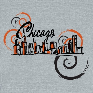 Chicago_Logo - Unisex Tri-Blend T-Shirt by American Apparel