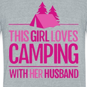 This Girl Loves Camping With Her Husband T Shirt - Unisex Tri-Blend T-Shirt by American Apparel