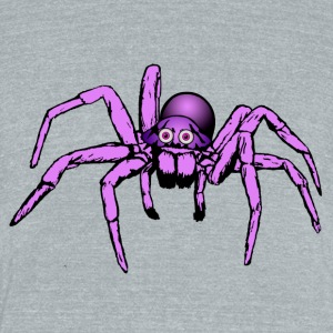 pink giant spider - Unisex Tri-Blend T-Shirt by American Apparel