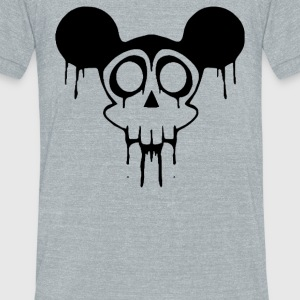Dead Mickey Mouse Halloween - Unisex Tri-Blend T-Shirt by American Apparel