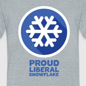 proud snowflake - Unisex Tri-Blend T-Shirt by American Apparel