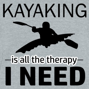 kayaking design - Unisex Tri-Blend T-Shirt by American Apparel