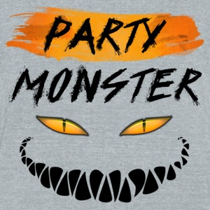 Party Monster - Unisex Tri-Blend T-Shirt by American Apparel