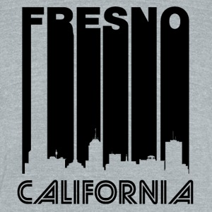 Retro Fresno Skyline - Unisex Tri-Blend T-Shirt by American Apparel