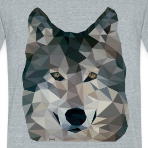 Jonk - Wolf - Unisex Tri-Blend T-Shirt by American Apparel