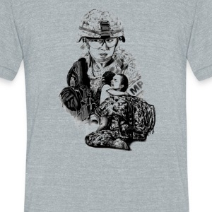 Tour Of Duty Women In Combat - Unisex Tri-Blend T-Shirt by American Apparel