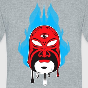 Chinese Opera Mask I - Unisex Tri-Blend T-Shirt by American Apparel