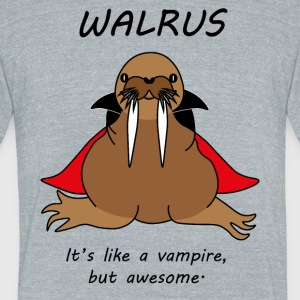 Walrus vampire - Unisex Tri-Blend T-Shirt by American Apparel