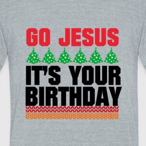 GO JESUS - Unisex Tri-Blend T-Shirt by American Apparel