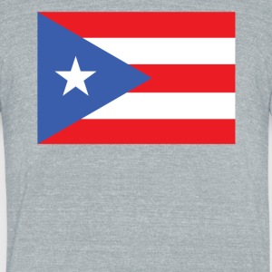 Flag of Puerto Rico Cool Puerto Rican Flag - Unisex Tri-Blend T-Shirt by American Apparel