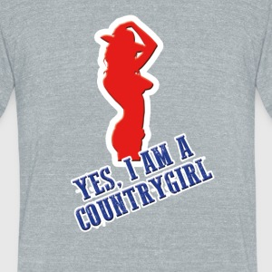 Cowntrygirl - Unisex Tri-Blend T-Shirt by American Apparel