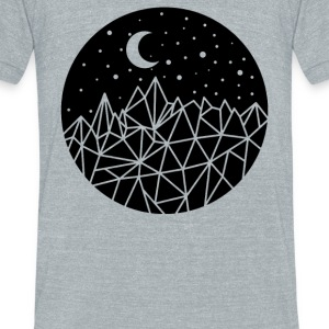 Geometric Sky - Unisex Tri-Blend T-Shirt by American Apparel