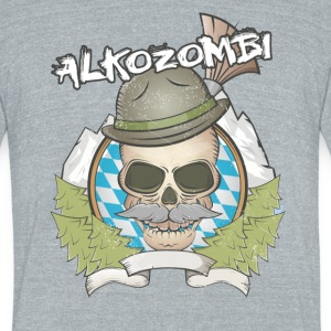 Alkozombie - Unisex Tri-Blend T-Shirt by American Apparel