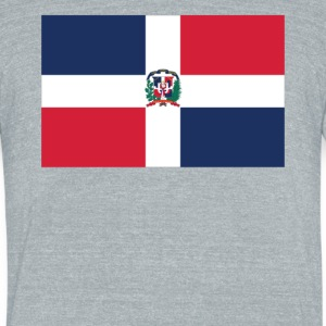 Flag of the Dominican Republic Cool Flag - Unisex Tri-Blend T-Shirt by American Apparel