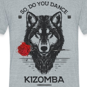 Kizomba_wolf - Unisex Tri-Blend T-Shirt by American Apparel