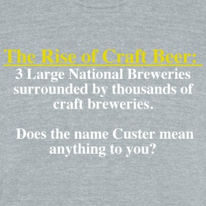 The Rise of Craft Beer - Unisex Tri-Blend T-Shirt by American Apparel