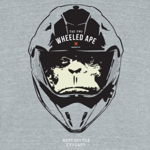 The Two Wheeled Ape Big Head Design - Unisex Tri-Blend T-Shirt by American Apparel