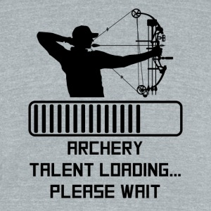 Archery Talent Loading - Unisex Tri-Blend T-Shirt by American Apparel