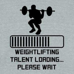 Weightlifting Talent Loading - Unisex Tri-Blend T-Shirt by American Apparel