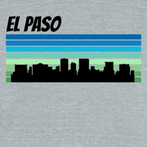 Retro El Paso Skyline - Unisex Tri-Blend T-Shirt by American Apparel