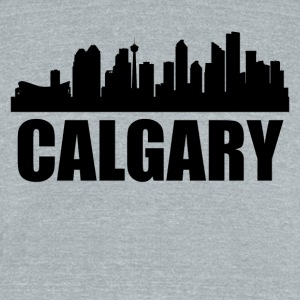 Calgary Skyline - Unisex Tri-Blend T-Shirt by American Apparel