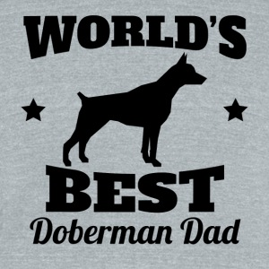 World's Best Doberman Dad - Unisex Tri-Blend T-Shirt by American Apparel