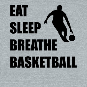 Eat Sleep Breathe Basketball - Unisex Tri-Blend T-Shirt by American Apparel