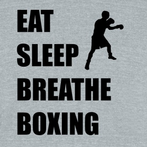 Eat Sleep Breathe Boxing - Unisex Tri-Blend T-Shirt by American Apparel