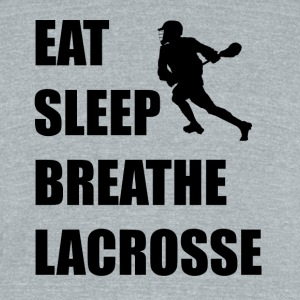Eat Sleep Breathe Lacrosse - Unisex Tri-Blend T-Shirt by American Apparel