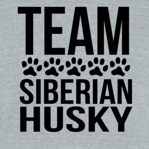 Team Siberian Husky - Unisex Tri-Blend T-Shirt by American Apparel