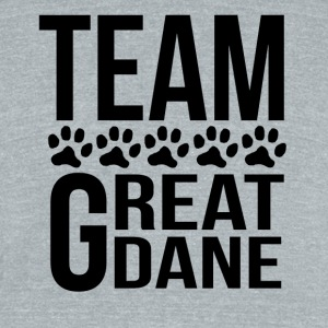 Team Great Dane - Unisex Tri-Blend T-Shirt by American Apparel
