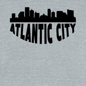 Atlantic City NJ Cityscape Skyline - Unisex Tri-Blend T-Shirt by American Apparel