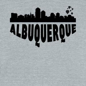 Albuquerque NM Cityscape Skyline - Unisex Tri-Blend T-Shirt by American Apparel
