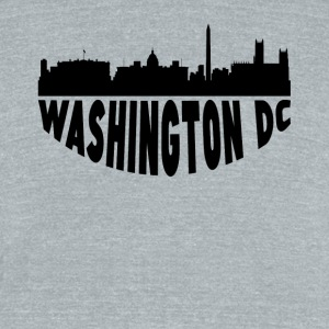 Washington DC Cityscape Skyline - Unisex Tri-Blend T-Shirt by American Apparel