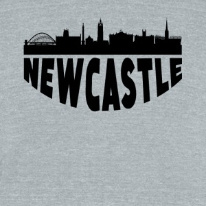 Newcastle England Cityscape Skyline - Unisex Tri-Blend T-Shirt by American Apparel