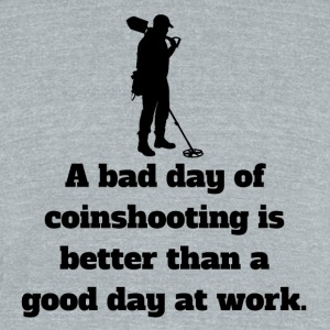 Bad Day Of Coinshooting - Unisex Tri-Blend T-Shirt by American Apparel