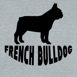French Bulldog Silhouette - Unisex Tri-Blend T-Shirt by American Apparel