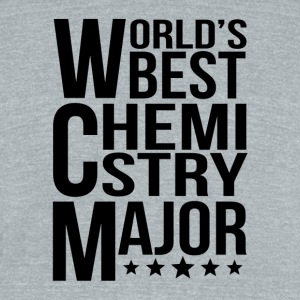 World's Best Chemistry Major - Unisex Tri-Blend T-Shirt by American Apparel